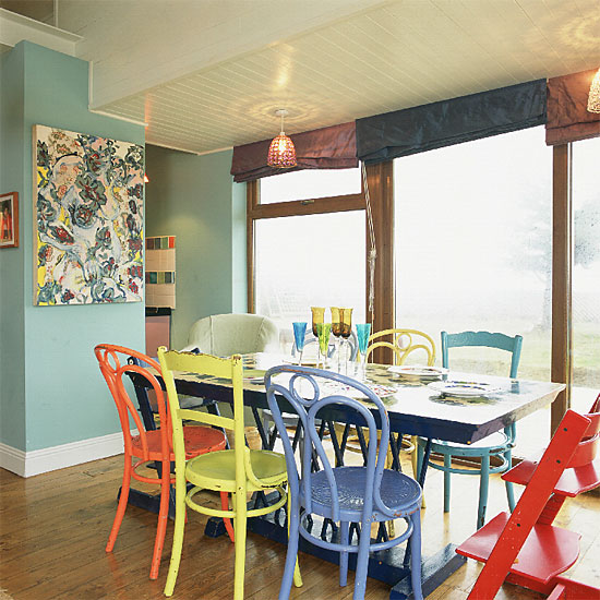 Incredible Colorful Kitchen Chairs Colorful Dining Room Chairs Paint Colors Ideas Living Room