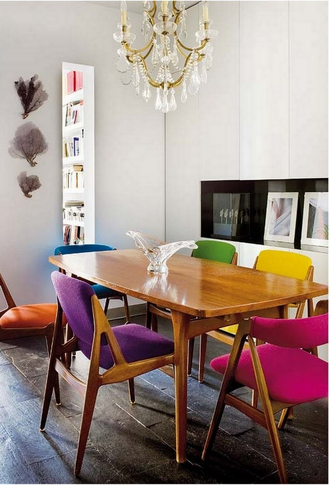 Incredible Coloured Dining Room Chairs Colourful Dining Table And Chairs 3873