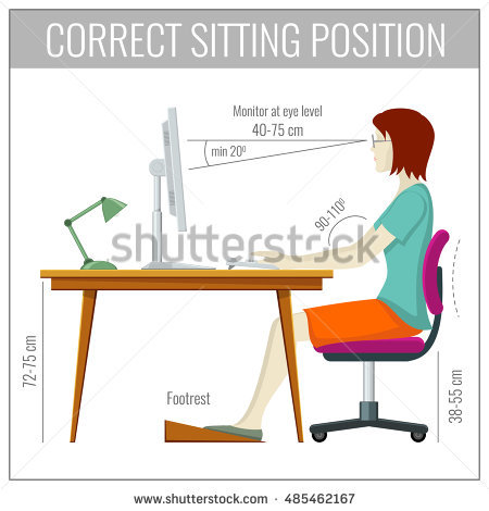 Incredible Computer Desk Posture Sitting Posture Stock Images Royalty Free Images Vectors