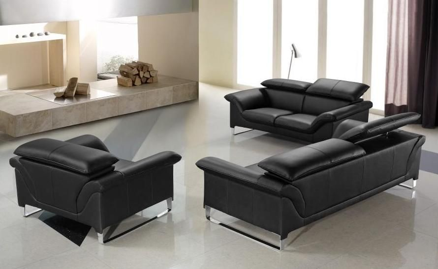 Incredible Contemporary Black Leather Sofa Elite Contemporary Black Leather Sofa Set Anaheim California V Elite
