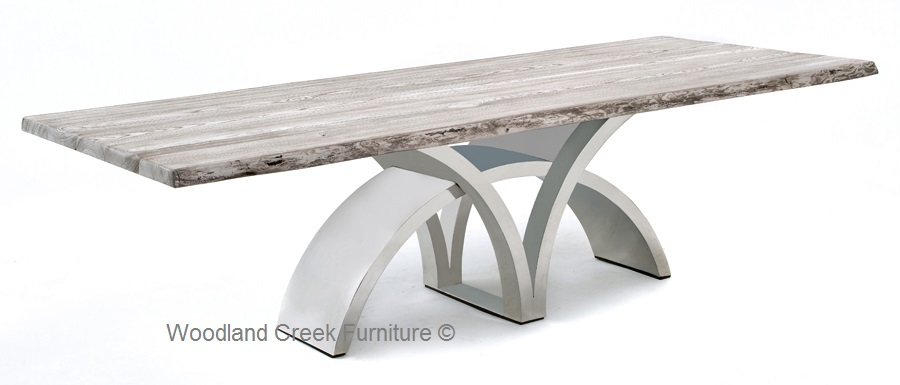 Incredible Contemporary Dining Table Bases Dining Table With Contemporary Stainless Steel Base