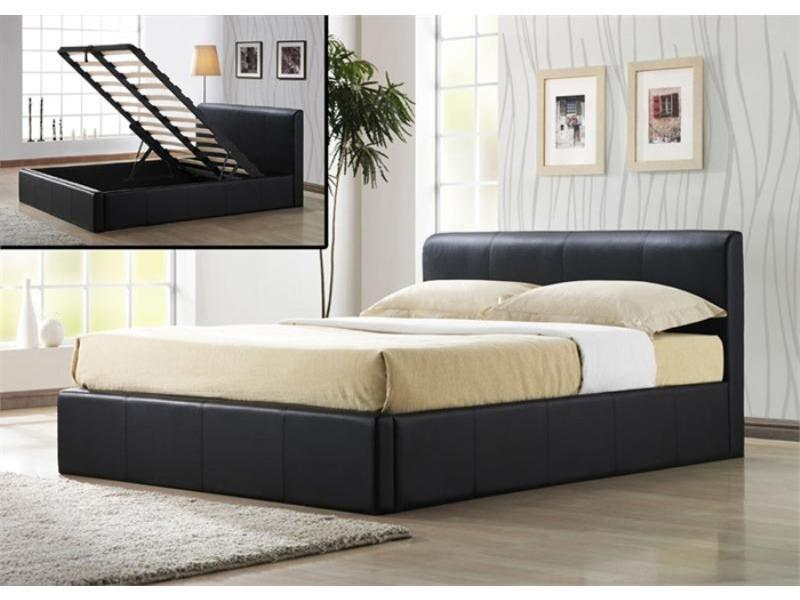 Incredible Contemporary King Size Bed Frame Modern Bedroom With Leather Storage Ottoman Bed Frame Hydraulic