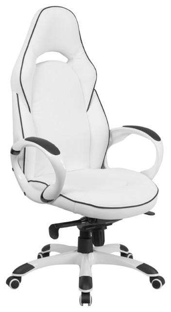 Incredible Contemporary Office Chair Rometti High Back Executive Office Chair White With Black Trim