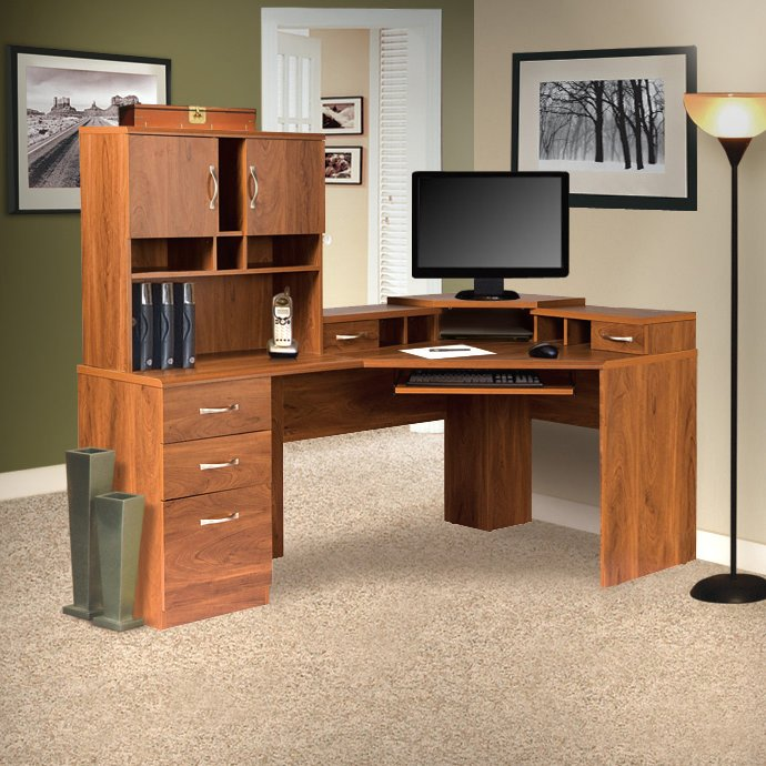 Incredible Corner Computer Desk With Hutch Red Barrel Studio Lewisville Corner Computer Desk With Hutch
