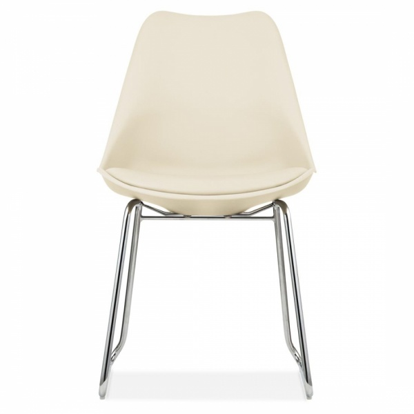 Incredible Cream Dining Chairs Cream Eames Inspired Dining Chairs With Soft Pad Seat Cult Uk
