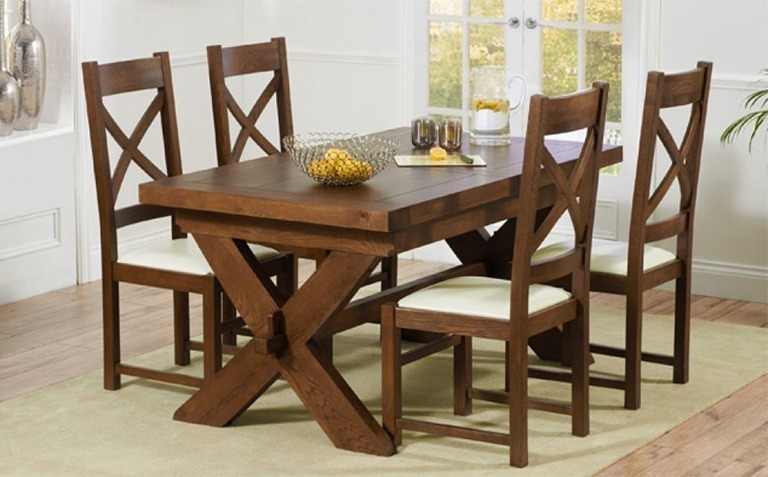 Incredible Dark Wood Dining Chairs Dark Wood Dining Table Sets Great Furniture Trading Company