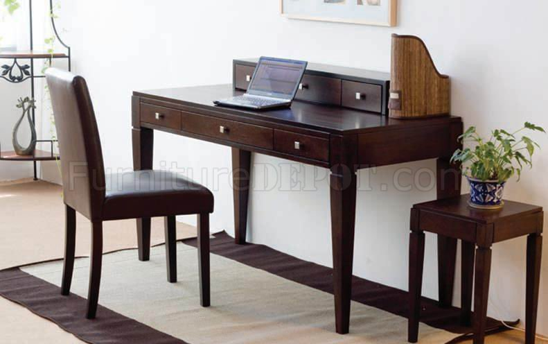 Incredible Desk With Chair French Walnut Finish Modern Writing Desk Wchair