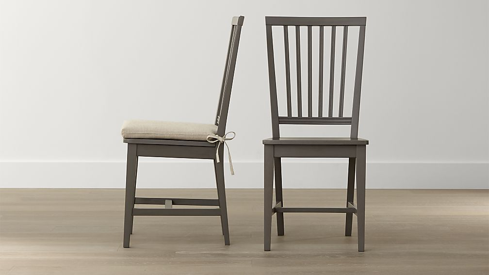 Incredible Dining Chairs Natural Wood Village Grigio Wood Dining Chair And Natural Cushion Crate And
