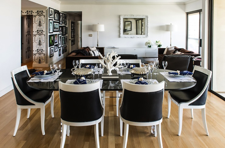Incredible Dining Room Chairs Black And White Interior Design Inspiration Photos Janet Rice Interiors