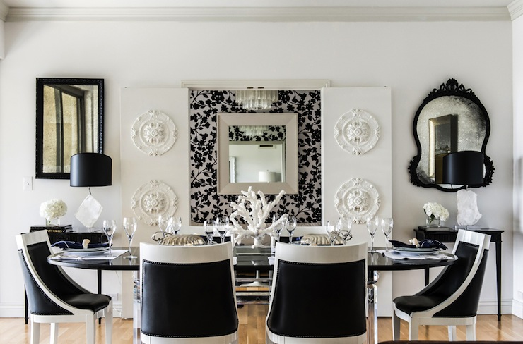 Incredible Dining Room Chairs Black And White White Table With Black Chairs Design Ideas