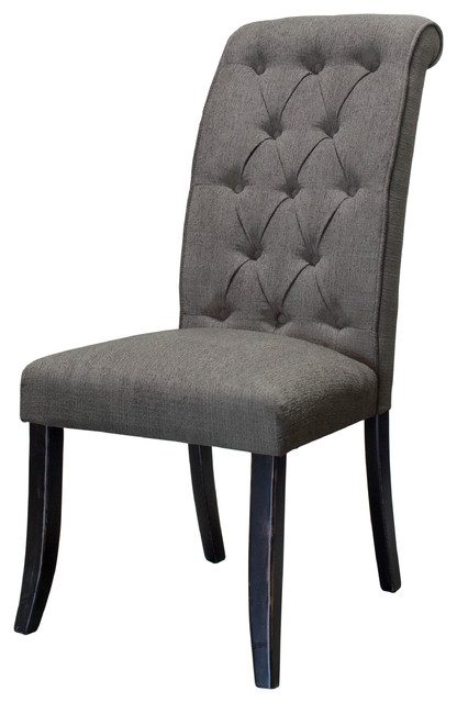 Incredible Dining Side Chairs Manhattan Tufted Dining Side Chairs Set Of 2 Transitional