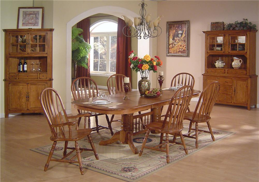 Incredible Dining Table And Chair Set Solid Oak Dining Table Arrowback Chair Set Eci Furniture