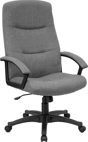 Incredible Fabric Office Chairs Gray Fabric Upholstered High Back Executive Swivel Office Chair
