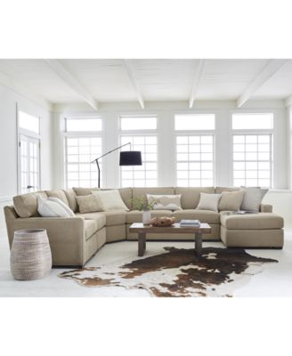 Incredible Fabric Sectional With Chaise Radley 5 Piece Fabric Chaise Sectional Sofa Created For Macys