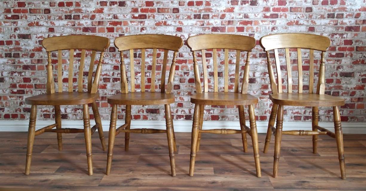 Incredible Farmhouse Dining Chairs Rustic Farmhouse Beech Dining Chairs With Slat Backs