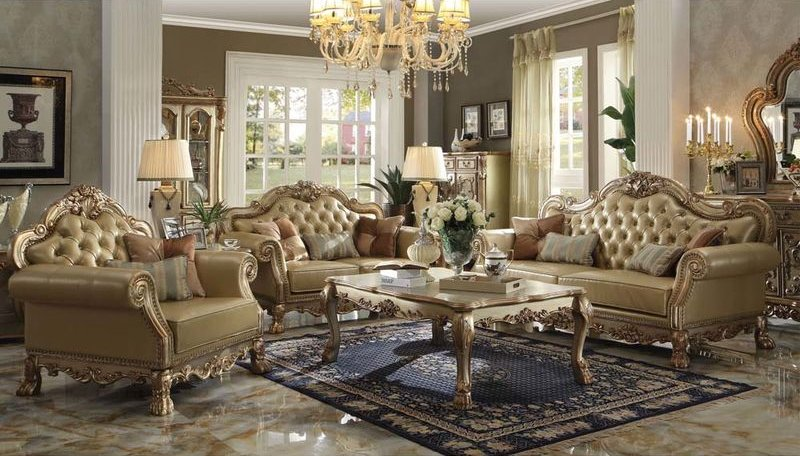 Incredible Gold Living Room Chairs Von Furniture Dresden Formal Living Room Set In Gold