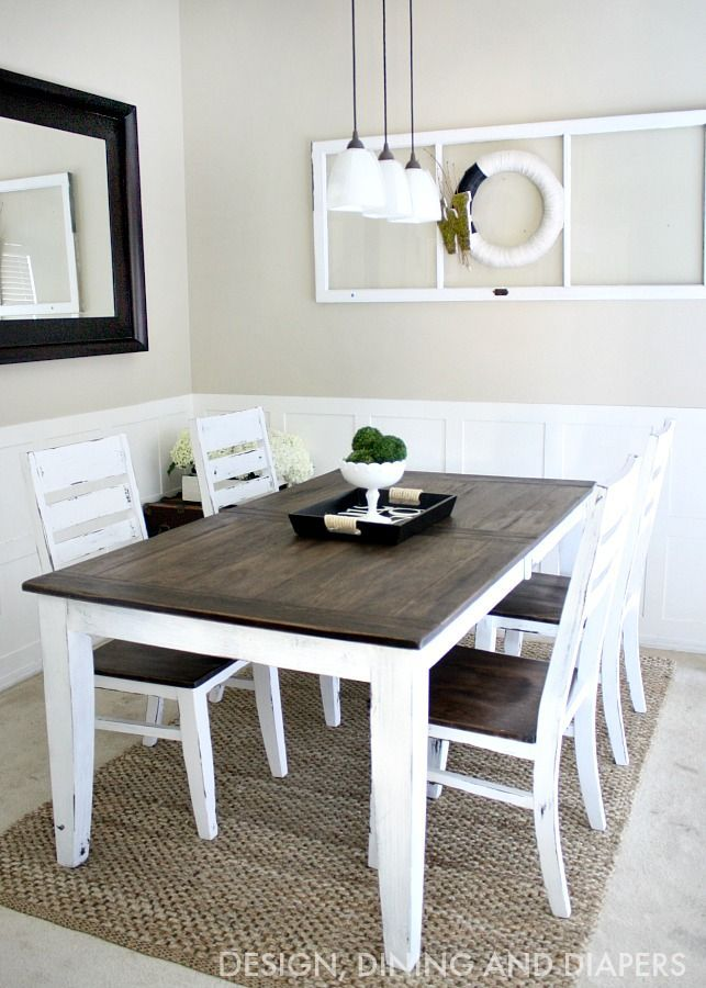 Incredible Grey And White Dining Room Chairs Best 25 Two Tone Table Ideas On Pinterest Refinished Table