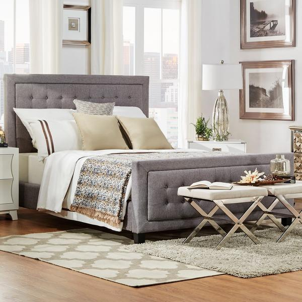 Incredible Grey Full Size Bed Q Bellevista Grey Button Tufted Square Upholstered Queen Size Bed