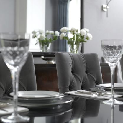 Incredible Grey Tufted Dining Room Chairs Gray Velvet Dining Chairs Transitional Dining Room