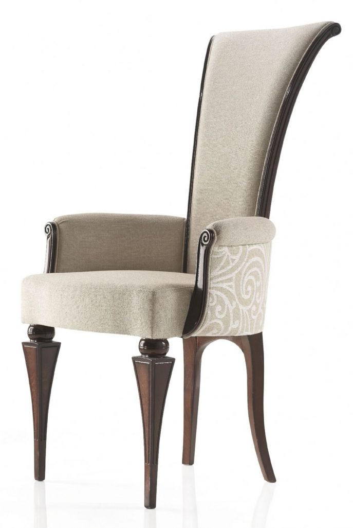 Incredible High Back Dining Chairs With Arms Furniture High Back Dining Chairs Grey Fabric High Back Dining