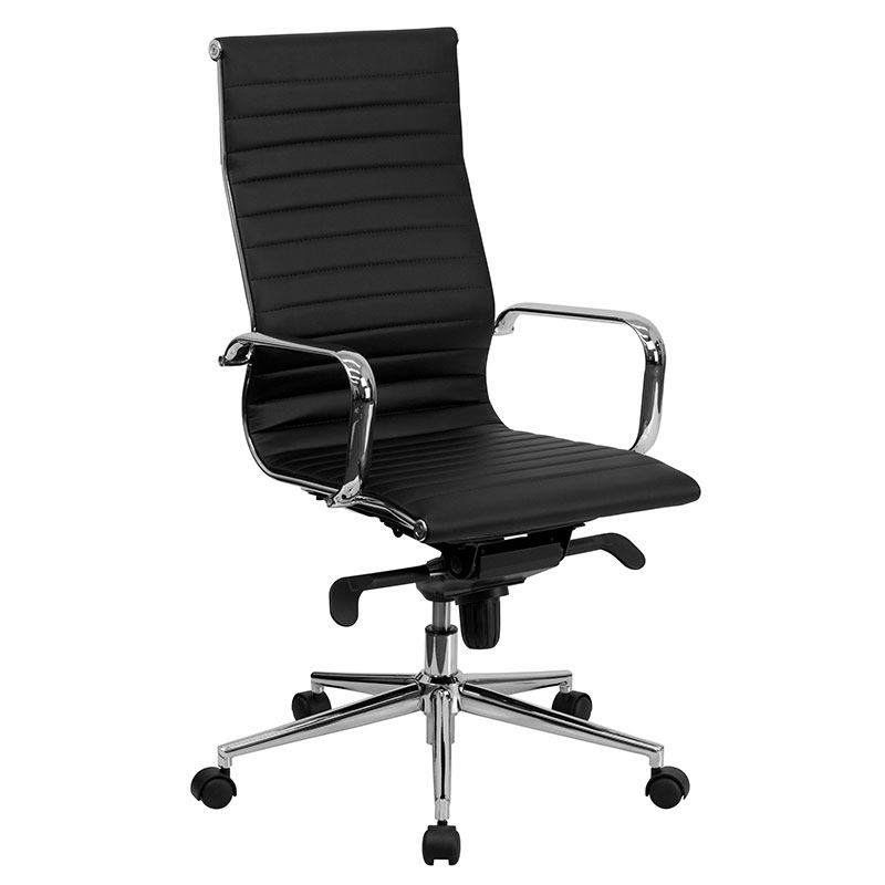 Incredible High Office Chair Manchester High Back Modern Office Chair Black