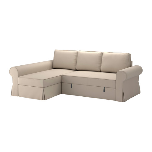 Incredible Ikea Folding Bed Couch Backabro Sofa Bed With Chaise Longue Ramna Beige Ikea