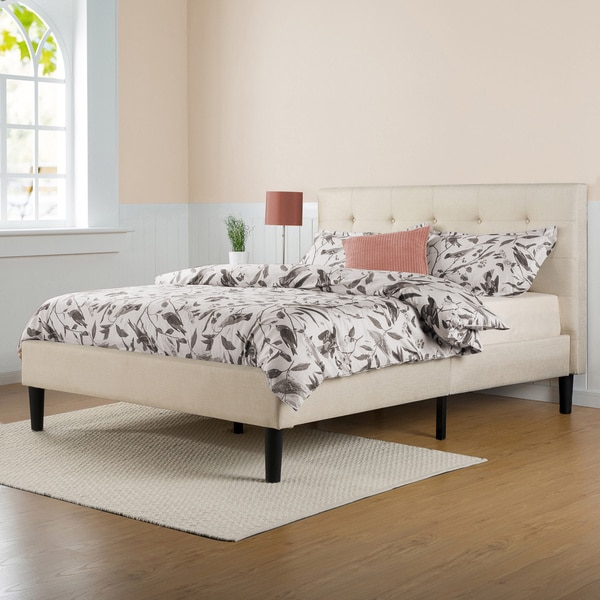 Incredible King Bed Wood Slats Priage Upholstered Button Tufted Platform Bed With Wooden Slats