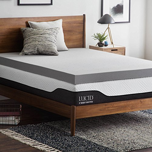 Incredible King Foam Mattress Topper Lucid 4 Inch Bamboo Charcoal Memory Foam Mattress Topper King