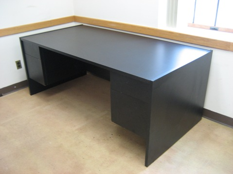 Incredible Large Black Office Desk Office Furniture For Sale
