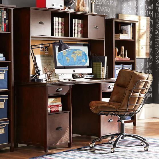 Incredible Large Desk With Storage Chatham Large Storage Desk Hutch Pbteen