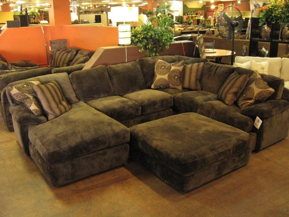 Incredible Large Sectional Sofa With Ottoman Large Sectional Sofas With Chaise And Ottoman Tags Large