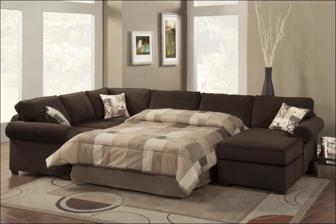 Incredible Leather And Cloth Sectional Furniture Magnificent Leather And Cloth Sectional Sofas