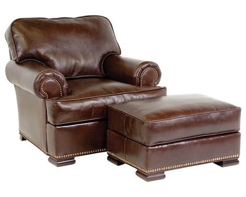 Incredible Leather Chair And Ottoman Elegant Leather Chair With Ottoman Leather Chairs And Ottomans
