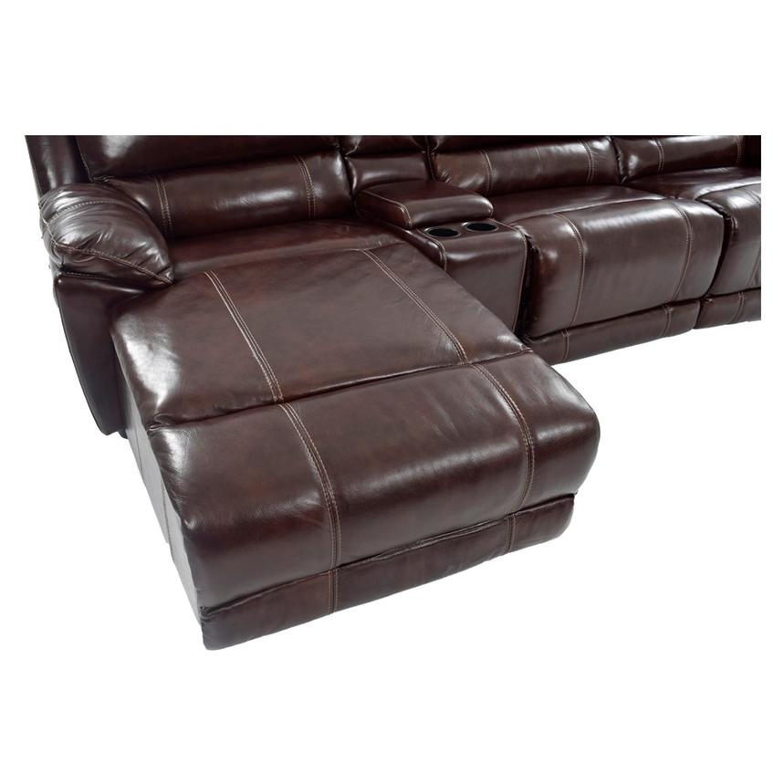 Incredible Leather Couch With Chaise Theodore Brown Power Motion Leather Sofa Wleft Chaise El Dorado