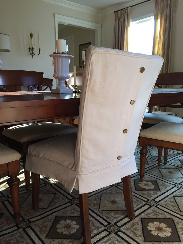 Incredible Leather Covered Dining Chairs Dropcloth Slipcovers For Leather Parsons Chairs Slipcovers