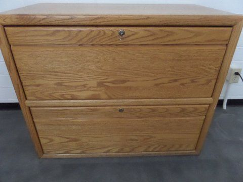 Incredible Locking Lateral File Cabinet Lot Detail Oak Two Drawer Locking Lateral File Cabinet With Key