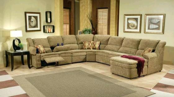 Incredible Microfiber Reclining Sectional With Chaise Sectional Reclining Sectional With Chaise And Cup Holders