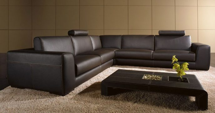 Incredible Modern Brown Leather Sofa Sofa Extraordinary Modern Brown Leather Sofa Contemporary Sofas