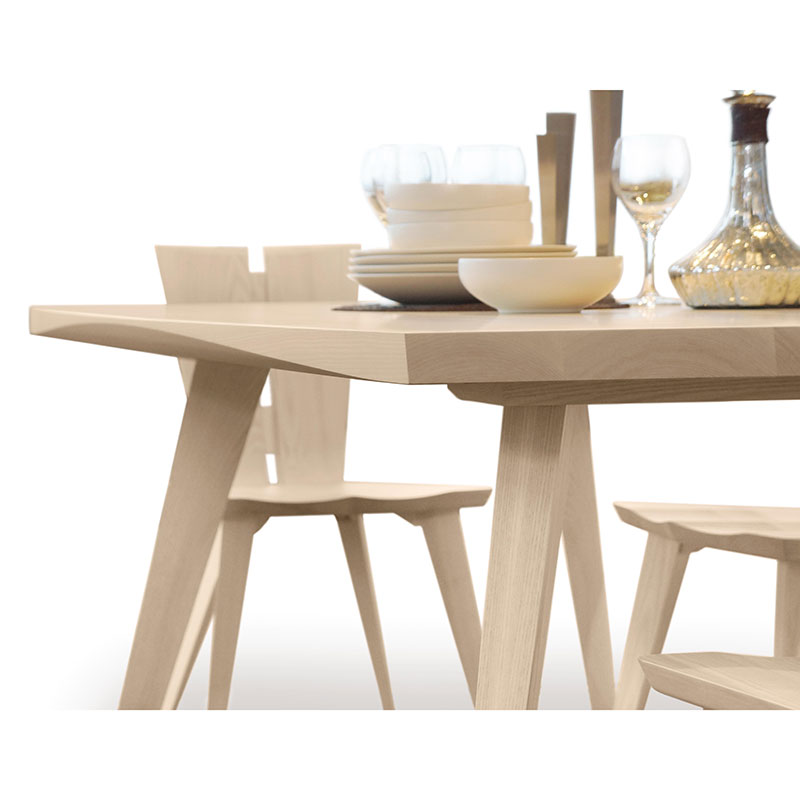 Incredible Modern Extension Dining Table Copeland Furniture Solid Ash Hardwood Axis Dining Table