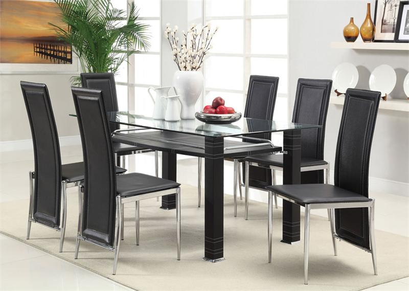 Incredible Modern Glass Dining Table Set Collection In Chairs For Glass Dining Table With Glass