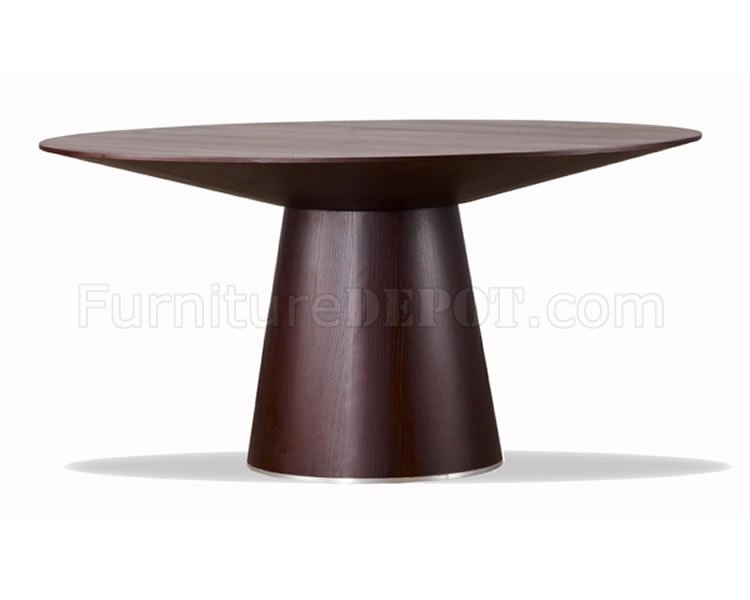 Incredible Modern Round Dining Table Wenge Finish Contemporary Round Dining Table Wtapering Base