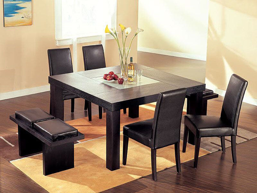 Incredible Modern Square Dining Table Dining Room Table Square Alluring Decor Inspiration Modern Square