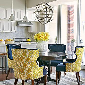 Incredible Navy Blue Leather Dining Chairs Captivating Yellow Dining Room Chairs With Yellow Dining Chairs