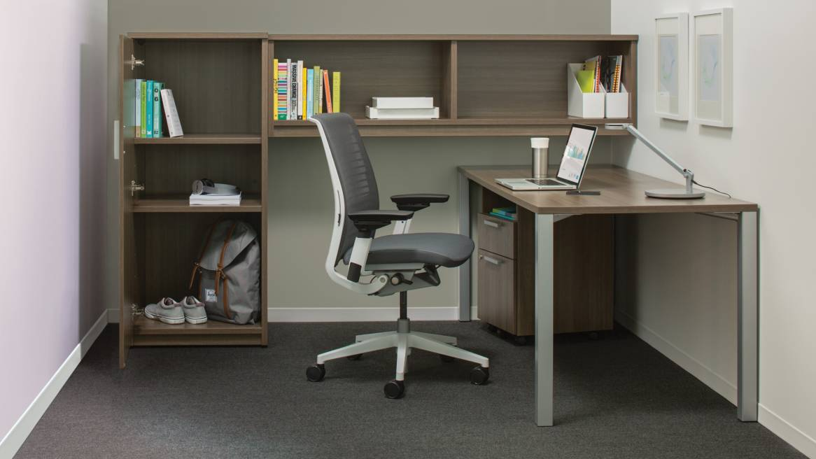 Incredible Office Desk And Storage Payback Office Desks Storage Solutions Steelcase