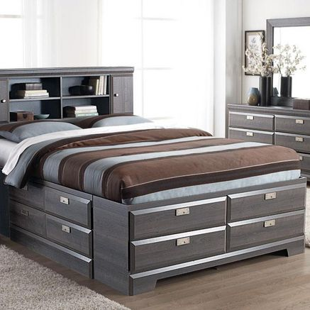 Incredible Queen Bed With Bed Underneath 19 Best Beds With Bookcase Headboards Images On Pinterest