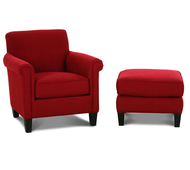 Incredible Red Accent Chair With Ottoman Wonderful Accent Chairs With Ottoman Mcguire K801 Accent Chair