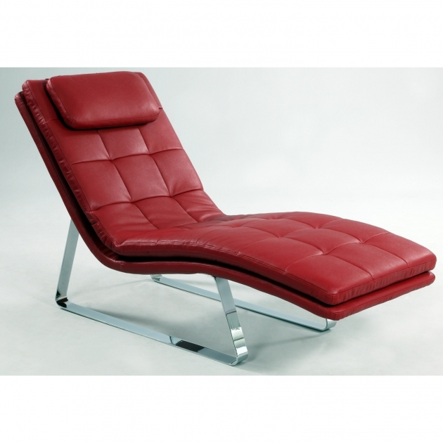 Incredible Red Leather Chaise Lounge Chair Adrienne Leather Chaise Lounge Chair Wayfair Interior Furniture