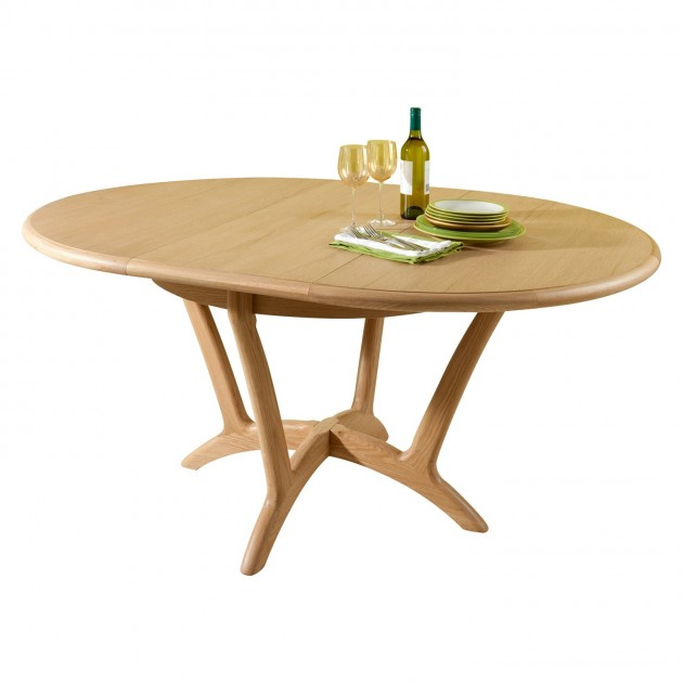 Incredible Round Extendable Dining Table Stockholm Dining Round Extending Dining Table Lenleys Furniture Kent