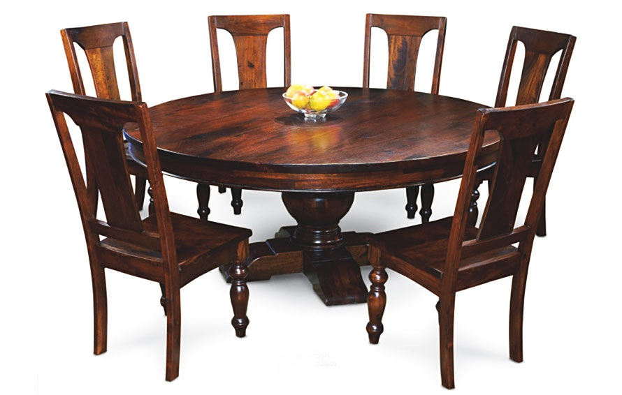 Incredible Round Solid Wood Dining Table Endearing Solid Wood Round Dining Table Round Wood Dining Table