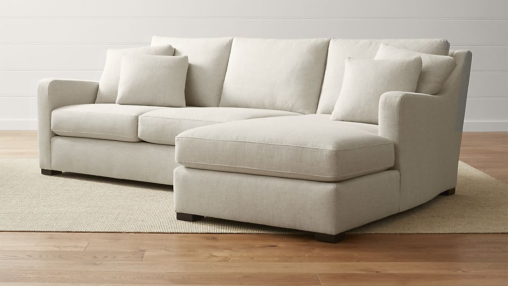 Incredible Sectional Sofa With 2 Chaises Verano Beige Right Arm Chaise Sectional Crate And Barrel